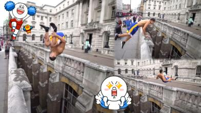 零裝備「死亡挑戰」 一個前空翻「樓過樓」 – 香港蘋果日報