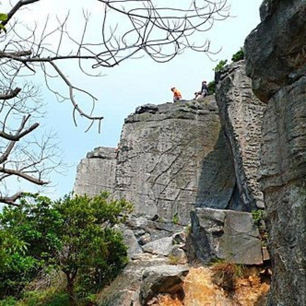 攀岩天然岩場-台北市北投-大砲岩