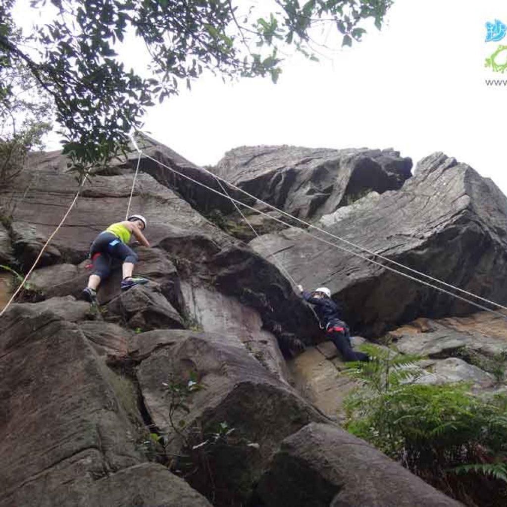 攀岩天然岩場-台北市北投-熱海