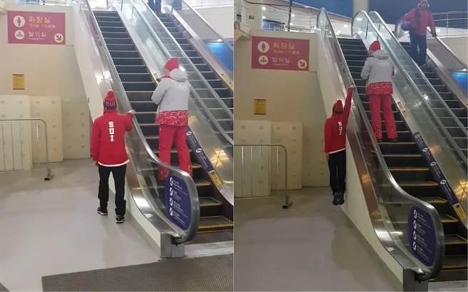 不要亂學叔叔有練過!冬奧瑞士隊選手挑戰「極限手扶梯」