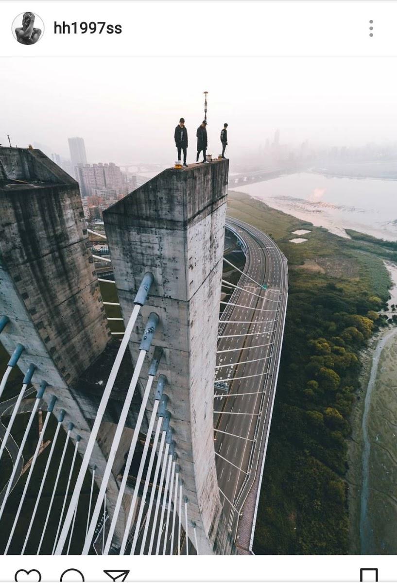 李翰昇上傳的照片遍及台灣、香港或中國等地的知名景點,其中更有不少極限攝影的作品,吸引網友追蹤朝聖。