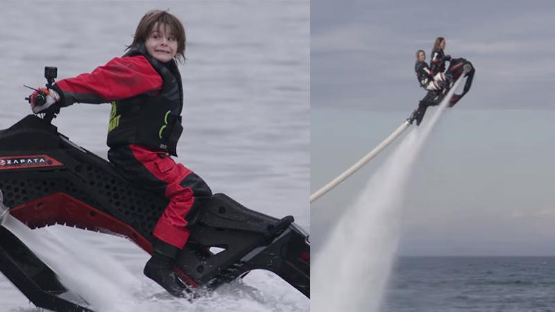 影/小孩也OK!飛天水上摩托車201 8年3 月底上市售價約新台幣18 萬元