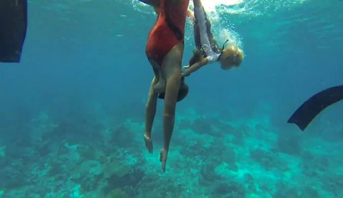 Community video /  #freediving / The youngest freediver in w…