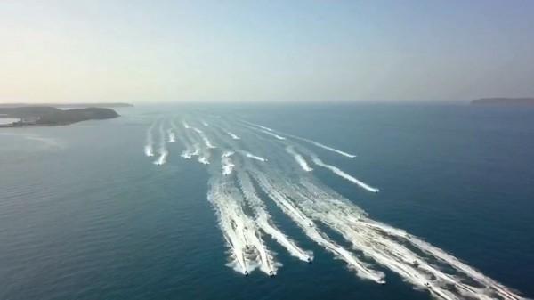 猛!31輛水上摩托車嘉義騎到金門