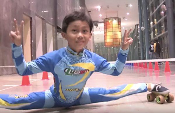 1530842405 963 腳筋超軟9歲男童破「車底溜冰」世界紀錄