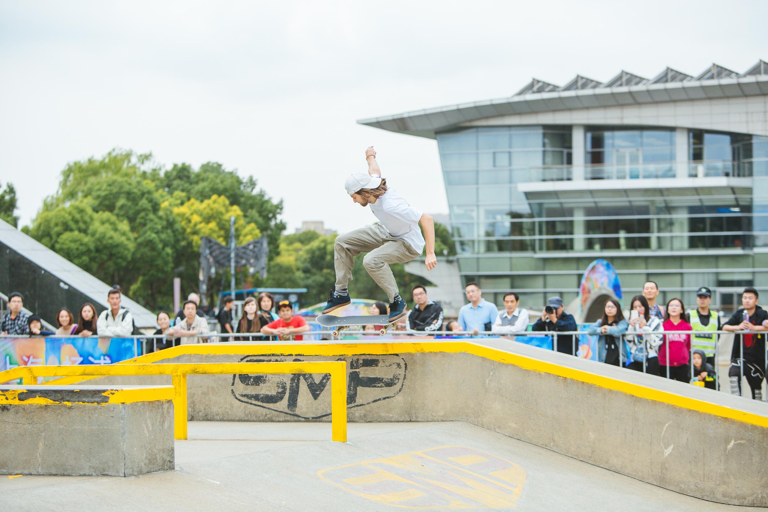 上海极限运动挑战赛举行 国内顶尖选手同场竞技