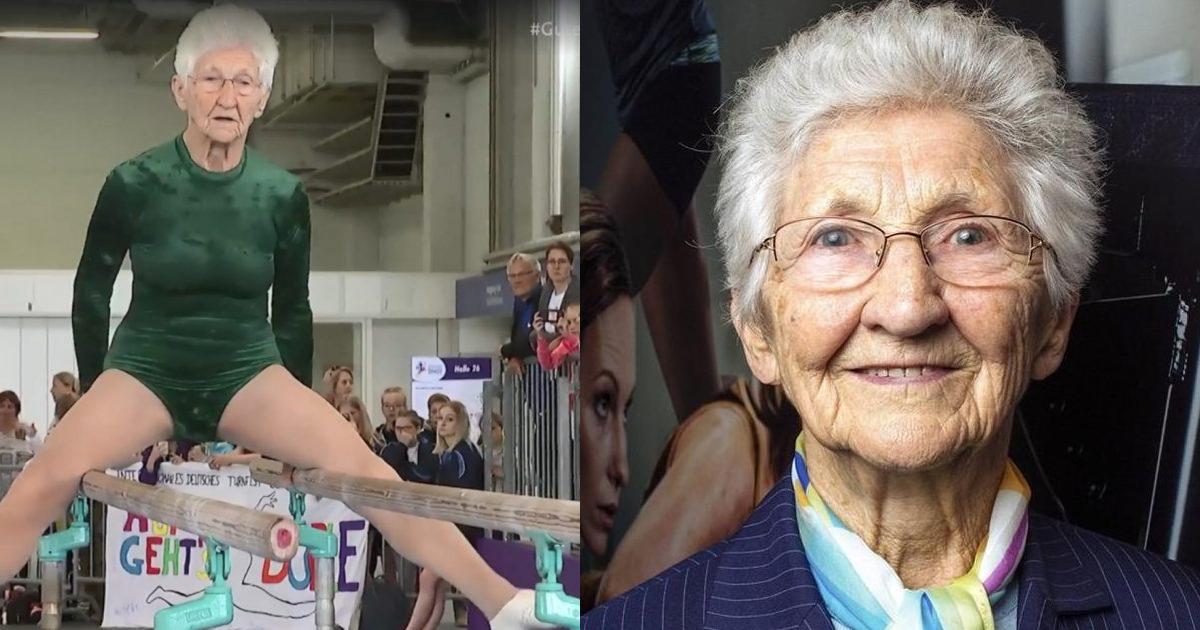 地表上最靈活阿嬤!德92歲老奶奶「雙槓表演」破世界紀錄