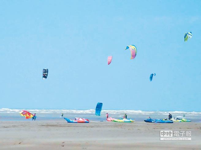 喜乘大安風風箏衝浪競賽秀絕技