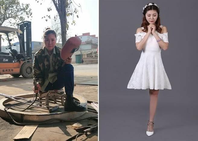 勇敢的女人最美! 獨腿正妹當焊工網爆紅拒絕300次告白