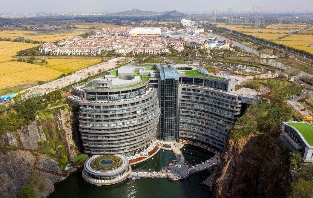 下探88公尺全球海拔最低的上海深坑酒店開門迎客