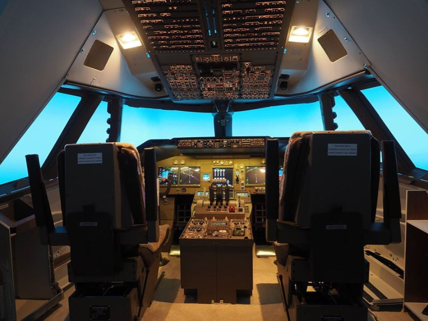 台北飛行模擬機中心 pilot room