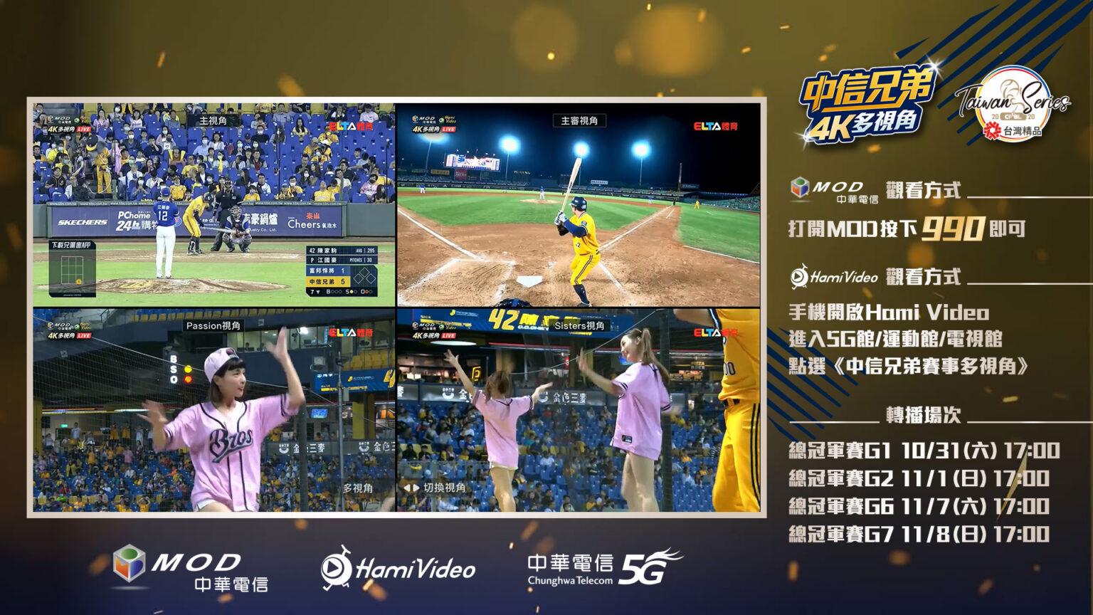 中華電信MOD、Hami Video 創新職棒轉播無極限 4個冠軍賽神視角 史無前例同時看-科技-HiNet生活誌