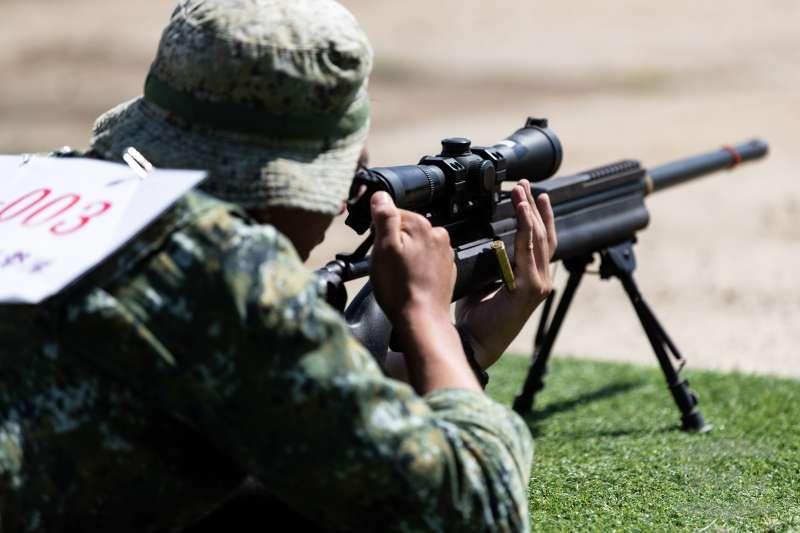 國軍年度狙擊手競賽在陸軍南區測考中心舉行。(取自軍聞社)