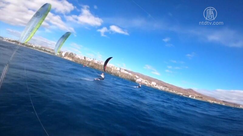 御風而行踏板馳騁 風箏水翼板歐洲錦標賽   風箏衝浪   極限運動   大加納利島