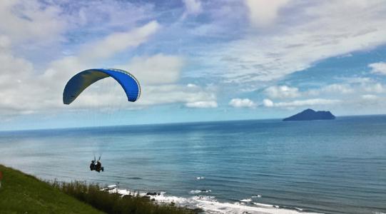 宜蘭外澳飛行傘基地