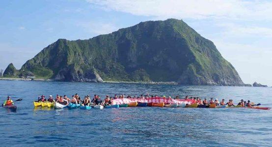 國立台灣海洋大學 畢業生獨木舟挑戰基隆嶼