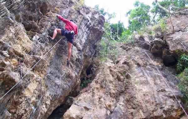 攀岩天然岩場-臺南-關仔嶺岩場2