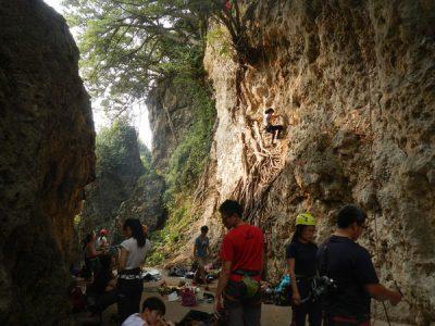 攀岩天然岩場-高雄-壽山岩場2